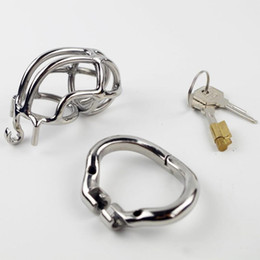 2021 cinghia di formato dell'anello Bocca Annular Belt Belt Cage New Chastity Bondage Dispositivo SM Snap maschio Small Size Kit in acciaio inox con giocattoli ad anelli Blocchi cazzo Gogac sconti cinghia di formato dell'anello