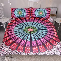 Wholesale Purple Quilt King - Bohemian Style Bedding Set Of 3PC Duvet Cover Set Quilt Cover With Pillowcase Twin Full Queen King Size 5 Designs