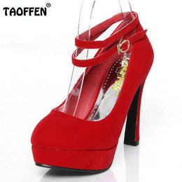 Wholesale Small Shoes Size 31 32 - TAOFFFEN High-heeled shoes small yards 31 women's 32 single shoes 33 plus size wedding 40 - 43 red bridal work shoes