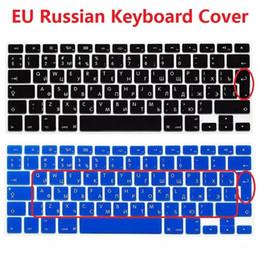 """Macbook pro letras online-10 PCS Euro UK Version Funda protectora de teclado para el Macbook Air Pro Retina 13 """"15"""" 17 """"Guía de cubiertas de portátil para computadora portátil en ruso"""