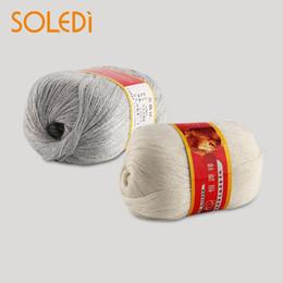 set di biancheria da letto di ricamo a mano Sconti New 50g 1Ball pettinato seta morbida lana cashmere caldo bambino artigianato filati per maglieria '