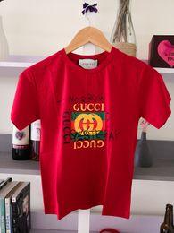 819a98be25959 De luxe GU marque Bébé Vêtements été T-shirts 100% coton tissu Hauts