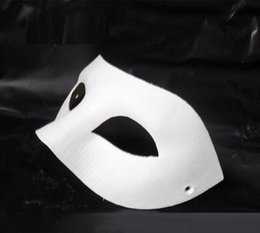 100 pz tavolo da disegno a mano solido bianco fai da te zorro maschera di carta maschera partita vuota per le scuole laurea celebrazione cosplay festa in maschera h61c da