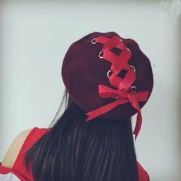 Deutschland Koreanische Version mit einer Wollmütze aus Barettherett, im Herbstwinterknospen, mit einer künstlerischen Kappe, die zum schwarzen modischen Mädchen passt Versorgung