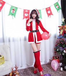 Tentação uniforme japonês on-line-Novos Trajes de Natal Japonês e Coreano Natal Cosplay Meninas Sexy Uniformes Temptation Trajes Do Partido