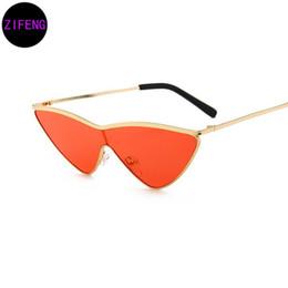 Wholesale Oceans Glass - Z F Small Triangle conjoined Sunglasses Cat Eye Sunglasses men Women New Fashion Color Ocean Film Sun Glasses UV400 11257