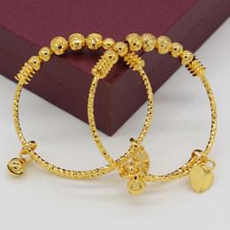 Adixyn DUE PEZZI Braccialetti a sfera per bambini / bambini Colore oro Bracciale etiope / braccialetto Gioielli arabi africani alla moda cheap arab jewelry da gioielli arabi fornitori