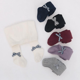 Wholesale baby hoses - Baby Bowknot Tights Panty Hose Pants Hosiery Kids Childrens girls Dance Socks ballet Tights Pantyhose Soft Cotton Stockings Footies