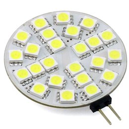 Wholesale Light Bulb 24v 3w - G4 LED Disc Round Range Hood Lights 12V 24V AC DC LED Ceiling Cabinet Lamp Bulb 24 30 LEDs 5050 3014 3W White Warm White