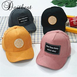 2dec3f6a4dd 2018 Korean Hip Hop Child Baseball Cap suede Summer kids Gorras Boys Girls  snapback Caps age for 2-6 years old