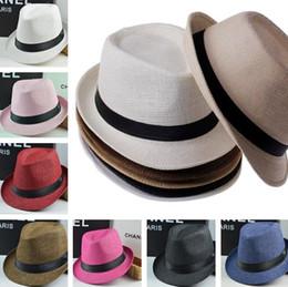Mais novo chapéus de sol Das Mulheres Dos Homens Chapéus De Palha Chapéu  Panamá Macio Ao Ar Livre Tampas de Borda Mesquishos Tímido Brim Chapéus  0350. ... ee33a93679a