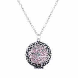 Antike parfümhalskette online-(Necklace + 5Pad) / set Neueste Antike Medaillon Anhänger Halsketten Parfüm Ätherisches Öl Medaillon Frauen Halsketten