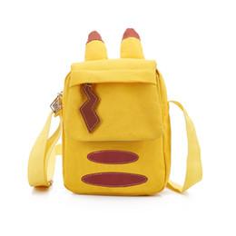 Escola divertida on-line-Alunos Adoráveis Macios Mochilas Escolares Crianças Menina Sacos de Ombro Único Pikachu Dos Desenhos Animados Relâmpago Sacos De Escola Do Divertimento