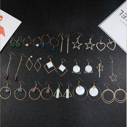 Wholesale Korean Chandelier Earrings - New Korean earrings temperament wild crystal pearl earrings women simple and elegant long earrings wholesale