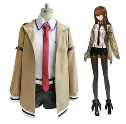 Wholesale Games Stages - Japanese Anime Steins Gate Makise Kurisu Cosplay Costume Stage Performence Clothes , Perfect Custom for You !