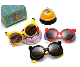 Kinder cartoon gläser rahmen online-Neue Kinder Cartoon Polarisierte Brille Baby Kinder TR90 Rahmen Sonnenbrille UV400 Schöne Junge Mädchen Nette Kühle Brillengläser