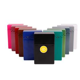 Ofertas de cigarro on-line-Oferta especial atacado cor automática caixa de cigarro de plástico fumaça de cigarro mancha atacado personalidade colorida e criativa
