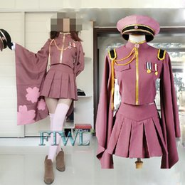 Vestire l'esercito uniforme online-New Miku Senbonzakura Vocaloid Hatsune Costume Lolita Dress Women Army Uniform Costumi di Halloween
