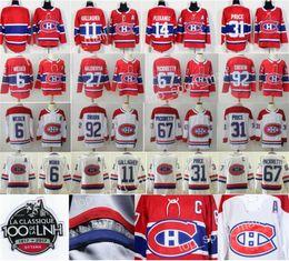 montreal canadiens jersey xl Rabatt Montreal Canadiens Trikots Hockey 11 Brendan Gallagher 31 Carey Preis 27 Alex Galchenyuk 6 Shea Weber 92 Jonathan Drouin Tomas Plekanec Rot