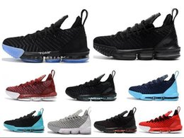 size 40 87661 bb025 Neue Herren Basketball Schuhe schwarz weiß rot grau blau Männer Turnschuhe  lebrons 16 Sport Turnschuhe Größe 7-12 größe 16 männer schuhe Werbeaktion