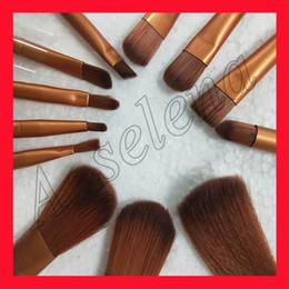 Wholesale Facial Hair Brushes - N3 Brush Professional 12pcs Makeup Cosmetic Facial Brush Kit Metal Box Brush Sets Face Powder Brushes free shipping