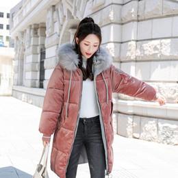 946caa99eaf2a Women loose jacket parka 2018 Gold velvet autumn and winter wear Korean  cotton down long coats jacket female parkas coat jackets