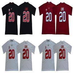 cardenales jerseys negro Rebajas Camisetas NCAA Stanford Cardinal 20 Bryce Love para hombre camisetas blanco rojo negro negro de fútbol americano universitario