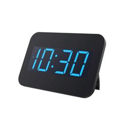 Baldr Relógio De Mesa De Parede Grande Luz De Fundo Azul LED Tempo Display Alarm Snooze Relógio Moderno Quarto Escritório Relógio De Mesa Digital PLUGUE UE de