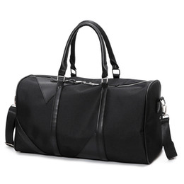 Wholesale Out Road - Big Travel Bag Large Capacity Men Women Hand Luggage Packs Oxford Out Purse Weekend Duffle Shoulder Messenger Black Off-road