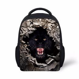 Wholesale 3d animal backpacks - Noisydesigns backpacks kindergarten baby school backpack bag animals ferocity black 3D printing Schoolbags Backpacks Travel Bag