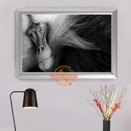 Wholesale Custom Framed Art - Frame&No Frame Monkey Animal series Custom Canvas Aluminum Alloy frames Canvas Painting Wall Art Prints Home Decor H0315@F6