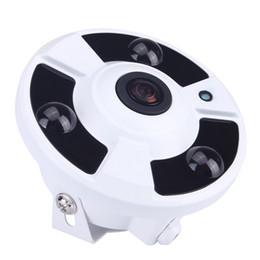 Wholesale ip camera array - External Microphone Audio 720P 960P 1080P Optional 5MP 1.7mm Lens Fish Eye 3pcs Powerful Array Panoramic IP Camera