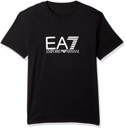 Wholesale Prints For T Shirts - EA7 Emporio Active Men's Train Visibility Logo Crew Neck T-Shirt 2018 Summer T-Shirts for Men 100% Cotton Short Sleeve O-Neck Top Tee