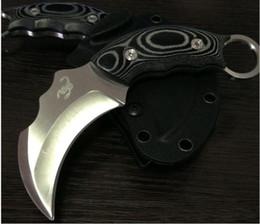 couteaux de karambit de scorpion Promotion Scorpion Griffe karambit griffe Couteau De Poche Fixe Lame Combat Camping Couteaux micarta poignée En Cuir Shealth Cadeau De Noël 1pcs livraison