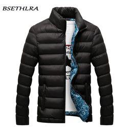 Wholesale add winter coats - 2018 Jackets Men Winter Hot Sale Windbreak Cotton Added Casual Slim Fit Mens Coats And Jackets hot Clothing Parka Men