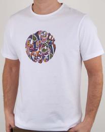 Пейсли-майки онлайн-Довольно Зеленый Thornley Пейсли Логотип Футболка в Белом Винтаж 2018 Высокое качество Марка Мужчины футболка Повседневная Короткие мужские футболки