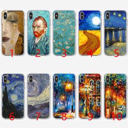 Pinturas de noite estrelado on-line-Pinturas night star van gogh soft silicone tpu phone case para iphone 5 5s se 6 6 s 7 8 plus x xr xs max capa