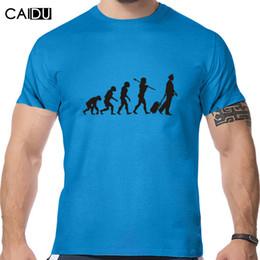 Wholesale Evolution Shorts - Top quality COTTON o neck heisenberg men tshirt short sleeve print casual Evolution Of The Pilot print T shirt for men 2016