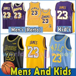 Wholesale fast dryer - 23 LeBron James Mesh Men Youth Kids Jersey Los Angeles 2018 Lakers NEW LeBron James Gold Soccer Jerseys Fast Free Shipping