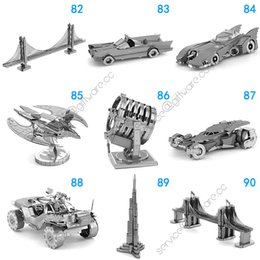 Wholesale 3d Motorcycle Tank - 168 Designs Metal 3D puzzles Toys model DIY Aircraft Cars Tanks Fighter Planes 3D Metallic Nano building puzzle for Adults and Kids