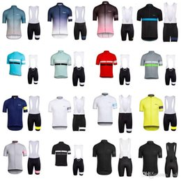 Wholesale Men Cycling Set - 2018 RAPHA Pro Team Jersey Cycling Clothing Summer Quick dry Ropa Ciclismo Racing Bike Cycling Jersey Mountain Bicycle Bib Shorts Set C3002