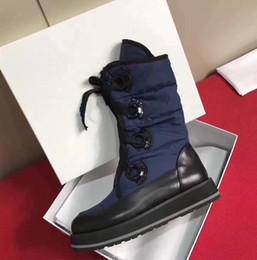 Wholesale Bow Rainboots - 2018 HOT SALE New Fashion Australia classic low winter boots real leather Pure wool Bowknot women's bailey bow snow boots