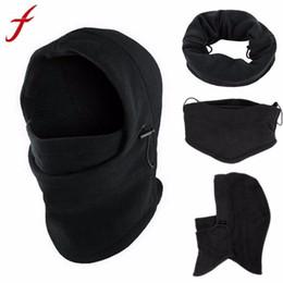 Wholesale masks hoods for men women - Fleece Hood 6 in1 Winter Hat Men Skullies Beanies Hats For Men Women Wool Scarf Mask Hat Caps Balaclava Beanie Knitted Male