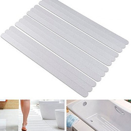 anti slip shower stickers Promo Codes - 6Pc Bath Shower Anti-Slip Tapes Non Slip Strips Pad Flooring Safety Mat Stickers