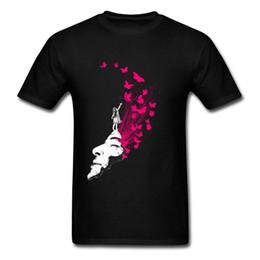 Felicidade negra on-line-Imprimir Camiseta Portal Para felicidade T Camisas para Os Homens Na Venda Camisetas Verão / Outono Tshirt Tripulação Pescoço 100% Algodão Roupas Preto Tee
