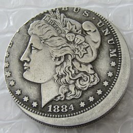 Wholesale Off Price Wholesale - Date 1884-O Morgan Dollar Error with An Off Center Error Copy Coin Promotion Cheap Factory Price nice home Accessories Silver Coins