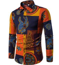 5dbd3110b78e Men s Shirts 14 Colors Mens Printed Casual Contrast Dress Shirt Button Down  Shirts Fashion Top Big Size XXXXXL H-08