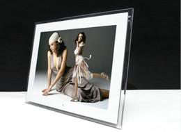 2019 15 marco digital 15 pulgadas LCD Digital Photo Frame HD 1024x768 pantalla TFT Multifuncional Bluit-in MP3 / MP4 reproductor control remoto blanco / negro color LLFA rebajas 15 marco digital