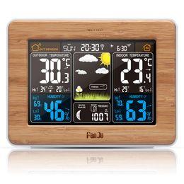 Pronóstico del color de la estación meteorológica FJ3365 con alerta | Temperatura | Barómetro de humedad Alarma Fase lunar Barómetro digital desde fabricantes