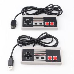 Ventana gris online-Mini Classic Grey Gamepad USB Wii plug 1.3m Controlador de juegos para NES Console MAC Windows envío de DHL gratis
